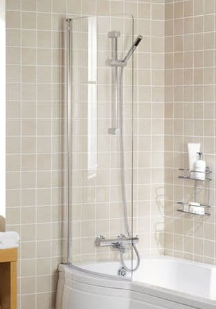 Lakes Arc Bath Screen 730 x 1400