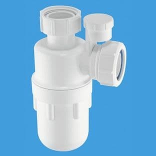 """Mcalpine A10V Anti-syphon bottle trap with water seal 1"""" 1/4"""