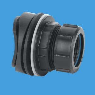 """McAlpine BOSSCONN1.25BL Mechanical Soil and Rainwater Pipe Boss Connector for 1 1/4"""" pipe"""