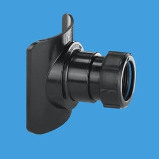 """McAlpine BOSSCONN110T-BL to 1 1/2"""" pipe Mechanical Soil Pipe Boss connector 57mm hole saw size"""