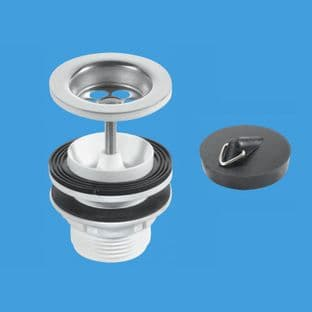 McAlpine BSW11PC Centre Pin Basin Wastes - Stainless Steel Flange