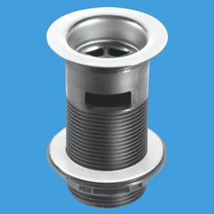 McAlpine BSW12C Backnut Basin Waste - Stainless Steel Flange