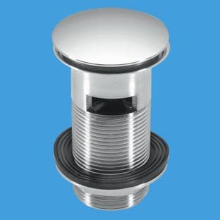 McAlpine CW60-CB Chrome plated Brass basin waste Backnut model