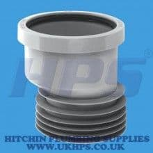 """McAlpine DC1GR-OS 4"""" 110mm x 4""""/110 Connector with 14mm offset"""
