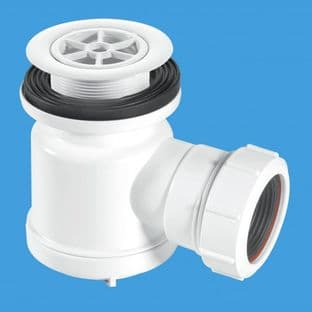 "McAlpine STW1-R1 1/2"" 19mm water seal trap with top access 70mm white plastic flange"