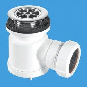 """McAlpine STW3-R1 1/2"""" 19mm water seal trap with top access 70mm CP plastic flange"""