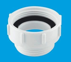 """McAlpine T12 BSP coupling waste outlet reducer 1"""" 1/4"""" x 1"""" 1/2"""