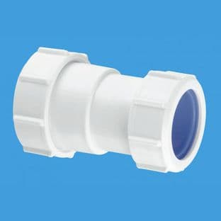 """T28L-ISO 1 1/2"""" Straight Connector Multifit x European pipe size x 40mm. McAlpine"""