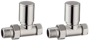 TB - Modern Chrome Round Valves - Straight