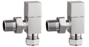 TB - Modern Chrome Square Valves - Angled