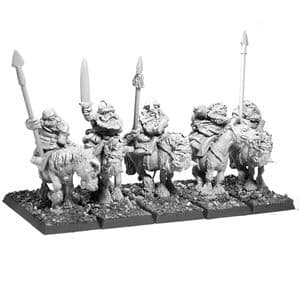 Imperial Dwarf Cavalry with Spears Command Pack