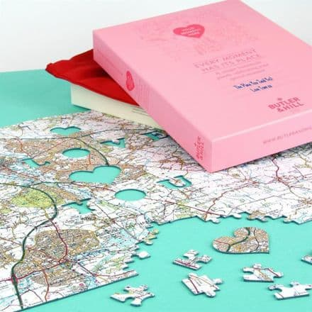 'We First Met Here' - Personalised Ordnance Survey Jigsaw Puzzle (LA4V)