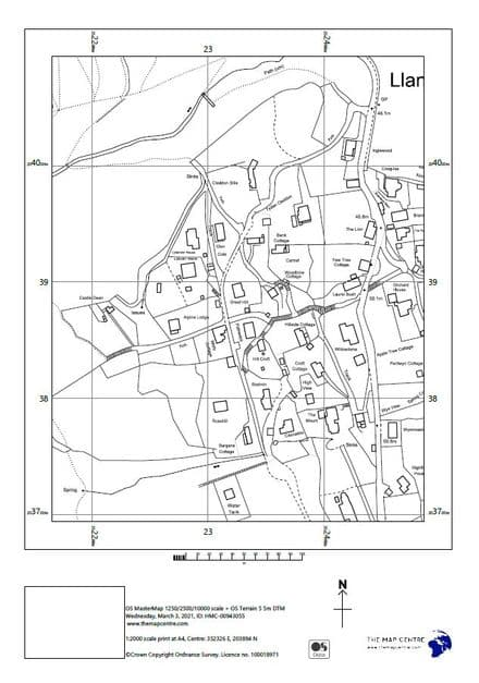 "1:2,000 Ordnance Survey A4 Sitemap ""Block Plan"""
