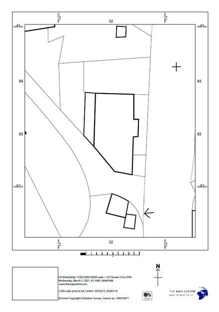 1:200 Ordnance Survey A4 Sitemap - Block Plan