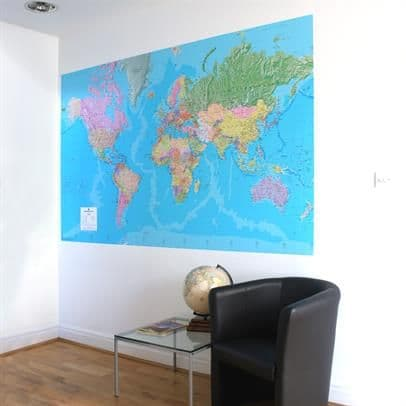 A World Map - Wall Paper 2.36 x 1.46 metres