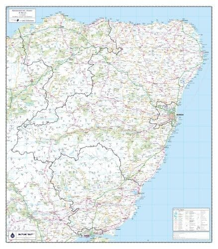 Aberdeenshire, Moray and Angus - Wall Map