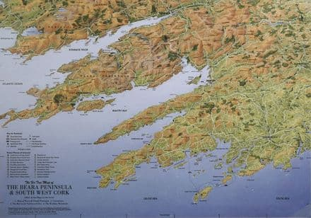 Aerial Map of the Beara Peninsula & South West Cork - Flat