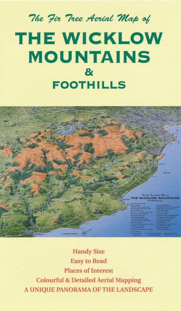 Aerial Map of The Wicklow Mountains & Foothills - Folded