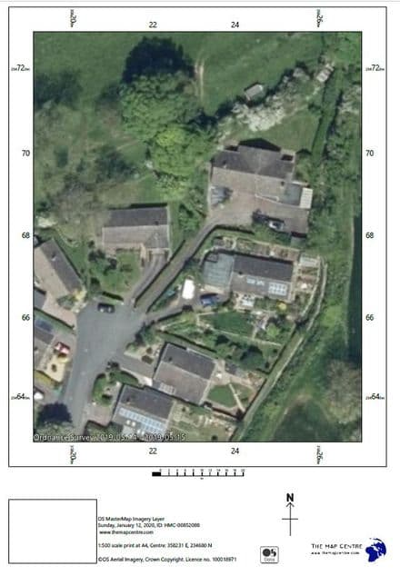 Air Photo by Ordnance Survey  Scale 1:500 - PDF By Email