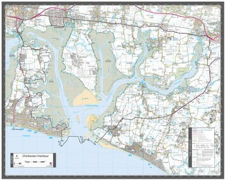 Chichester Harbour - AONB Wall Map
