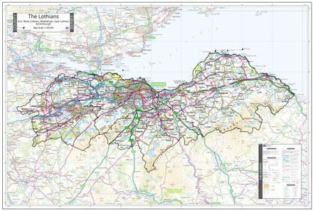 County Map of The Lothians