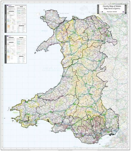 County Map of Wales