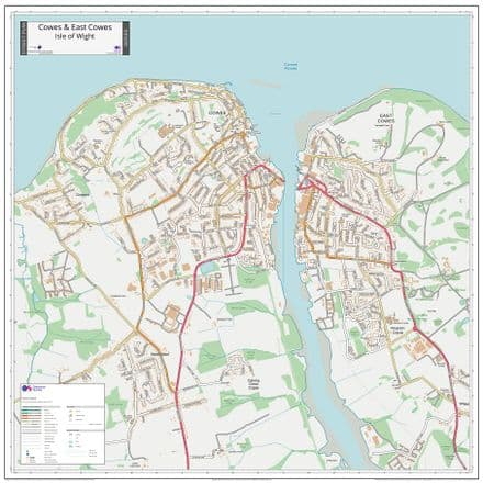 Cowes & East Cowes IOW Street Map 2021