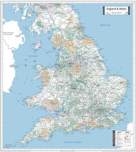 England & Wales - Planning Wall Map