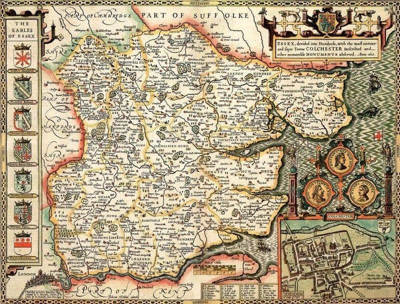 Essex Historical Map 1000 Piece Jigsaw Puzzle (1610) (ESSE1)