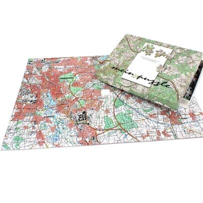 Germany Personalised Jigsaw – Topographic Map