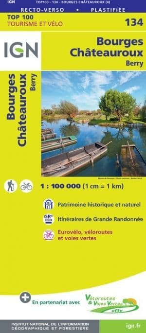 IGN 134 - Bourges Chateauroux Berry