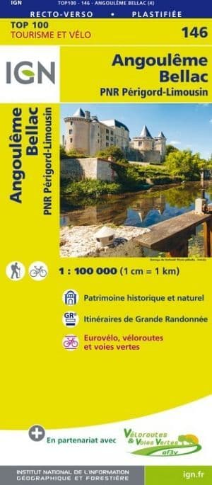 IGN 146 - Angouleme, Bellac,  PNR Perigord-Limousin