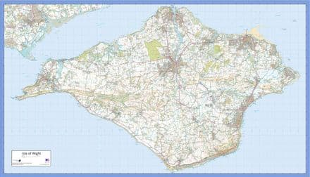Isle of Wight - Wall Map - The Map Centre Press