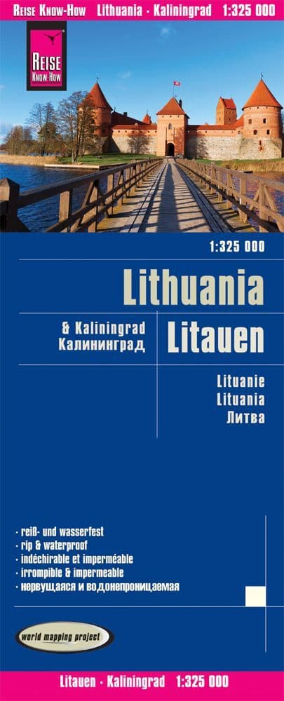 Lithuania Road Map - Reise know How