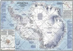 National Geographic Wall Maps of Antarctica & The Arctic