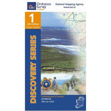 Ordnance Survey Ireland 1:50,000 - Map 01 - Donegal (NW)