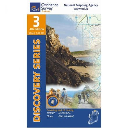 Ordnance Survey Ireland 1:50,000 - Map 03 - Donegal North East / Derry