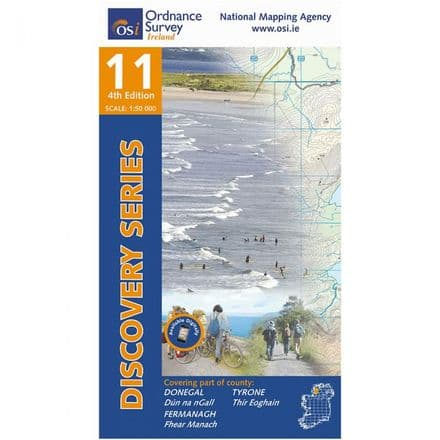 Ordnance Survey Ireland 1:50,000 - Map 11 - Donegal South