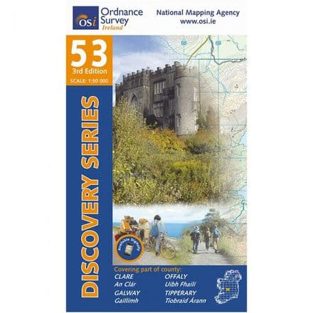 Ordnance Survey Ireland 1:50,000 - Map 53 - Clare / Galway / Offaly / Tipperary