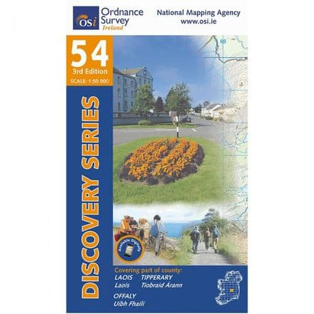 Ordnance Survey Ireland 1:50,000 - Map 54 - Laois / Offaly / Tipperary