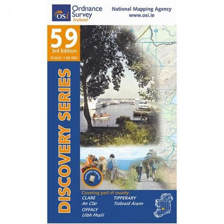 Ordnance Survey Ireland 1:50,000 - Map 59 - Clare / Offaly / Tipperary