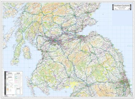 Ordnance Survey Road Map 3 - Southern Scotland & Northumberland - Wall Map