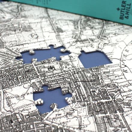 Ordnance Survey Victorian Mapping Personalised Map Jigsaw Puzzle (VM, VM4)