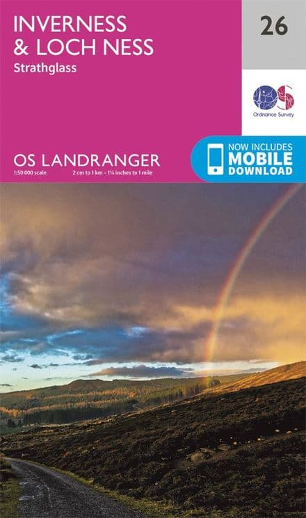 OS Landranger 26 - Inverness and Loch Ness