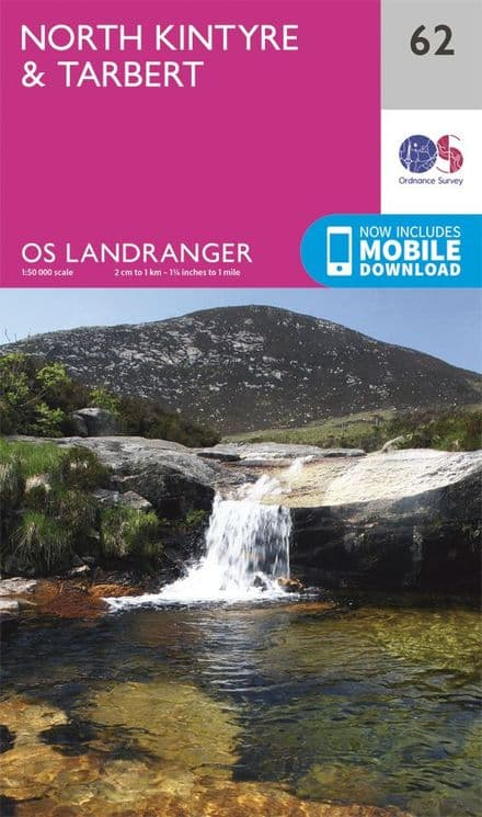 OS Landranger 62 North Kintyre and Tarbert