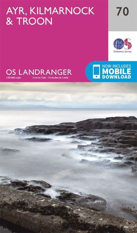 OS Landranger 70 Ayr, Kilmarnock and Troon