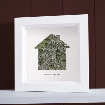 Our Home Framed Map Aerial Photography