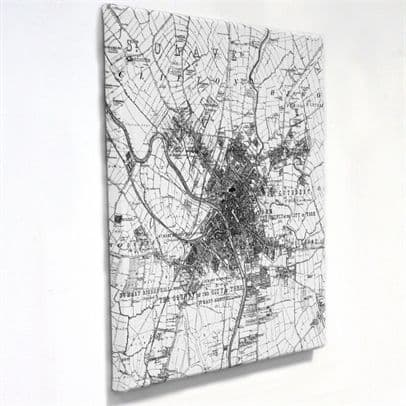 Personalised Canvas Map - Victorian Ordnance Survey Six Inch Mapping