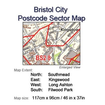 Postcode City Sector Maps 1 Bristol