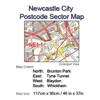 Postcode City Sector Maps 9 Newcastle-upon-Tyne